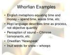 whorfian examples
