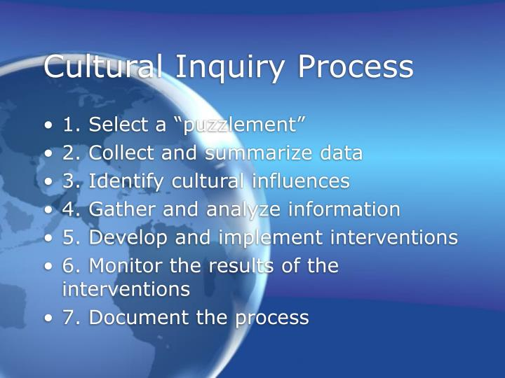 Cultural Inquiry Process