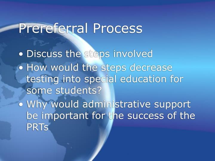 Prereferral Process