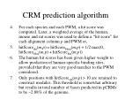 crm prediction algorithm1