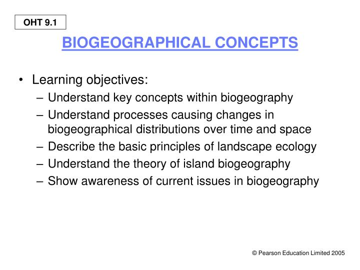 Biogeographical concepts