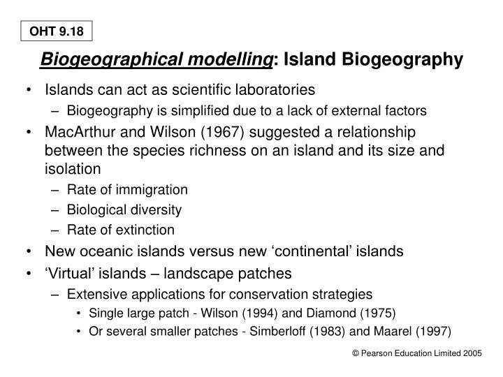 Biogeographical modelling