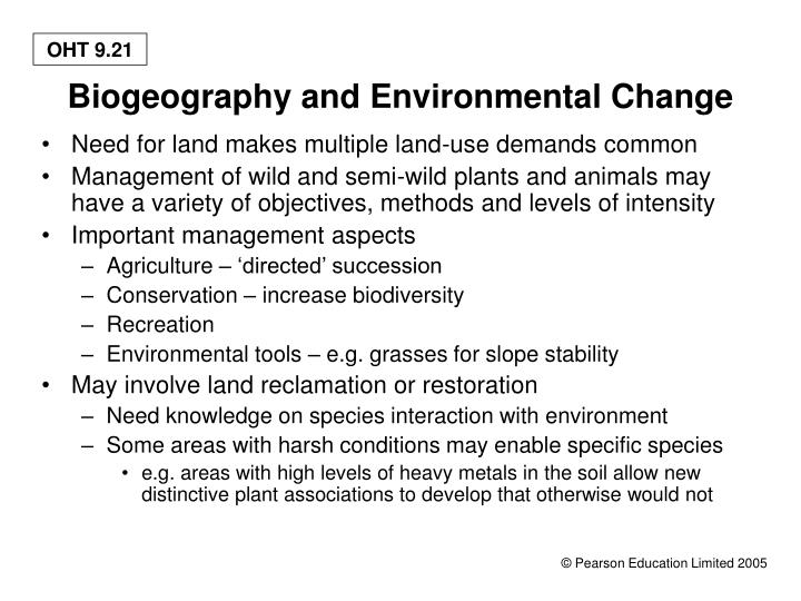Biogeography and Environmental Change