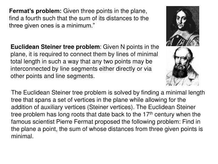 Fermat's problem:
