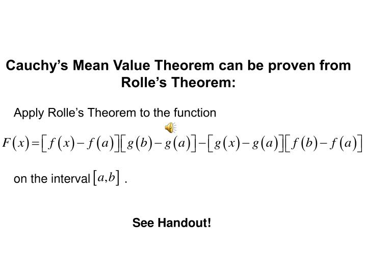 Apply Rolle's Theorem to the function