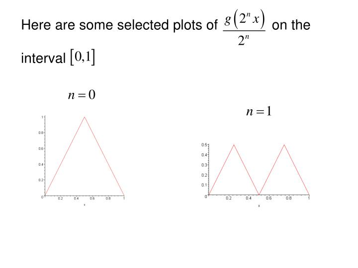 Here are some selected plots of