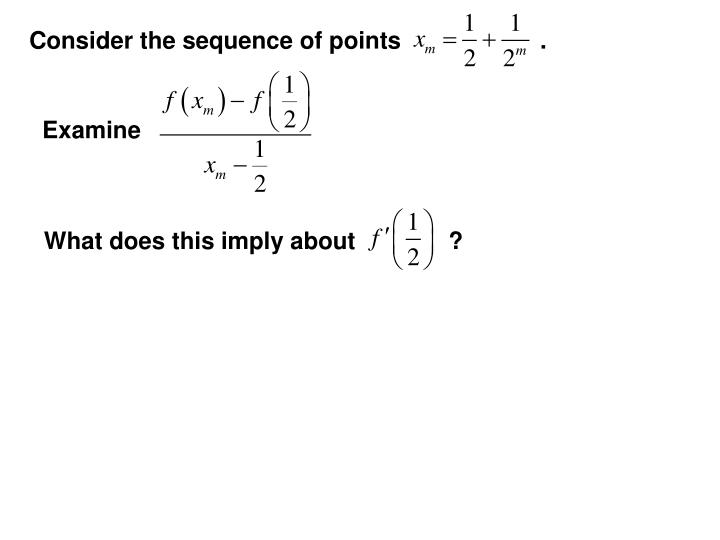 Consider the sequence of points                     .