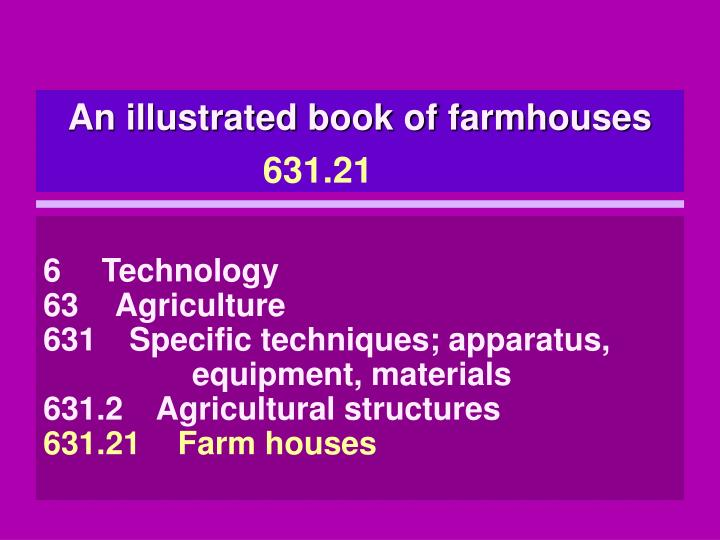 An illustrated book of farmhouses