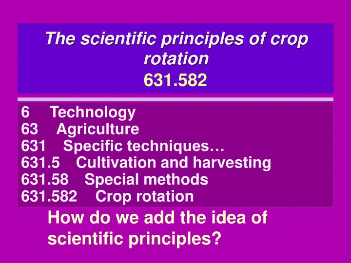 The scientific principles of crop rotation
