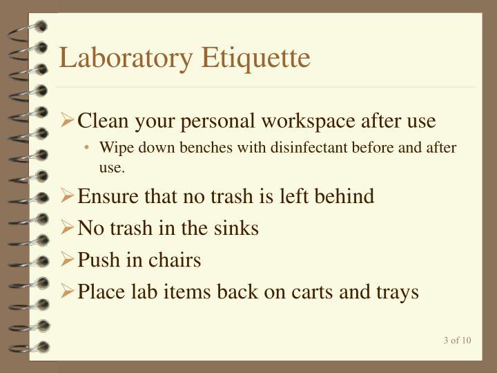 Laboratory Etiquette