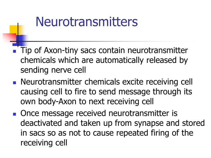 neurotransmitters essay It has a huge impact on brain activities in its role as a neurotransmitter dopamine a recent study on dopamine neurons in sample essays — tags: dopamine.