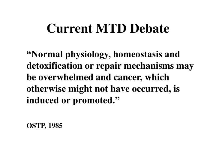 Current MTD Debate