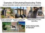 examples of dehydrating dessiccating toilets