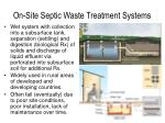 on site septic waste treatment systems
