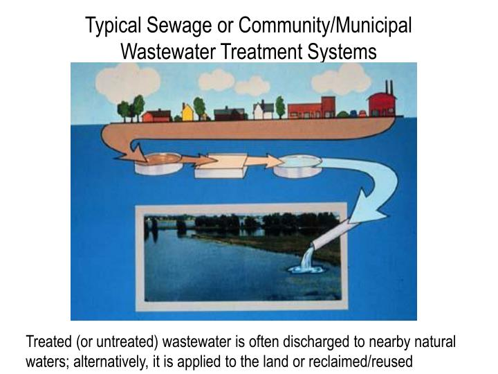 Typical Sewage or Community/Municipal Wastewater Treatment Systems