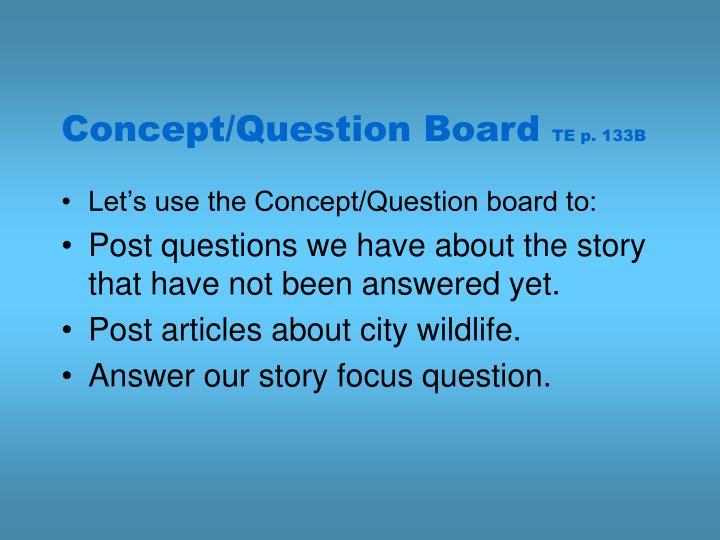 Concept/Question Board