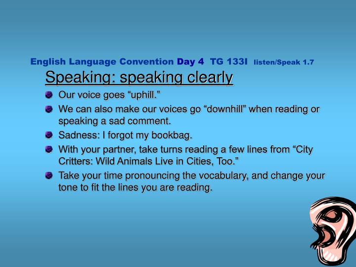 English Language Convention