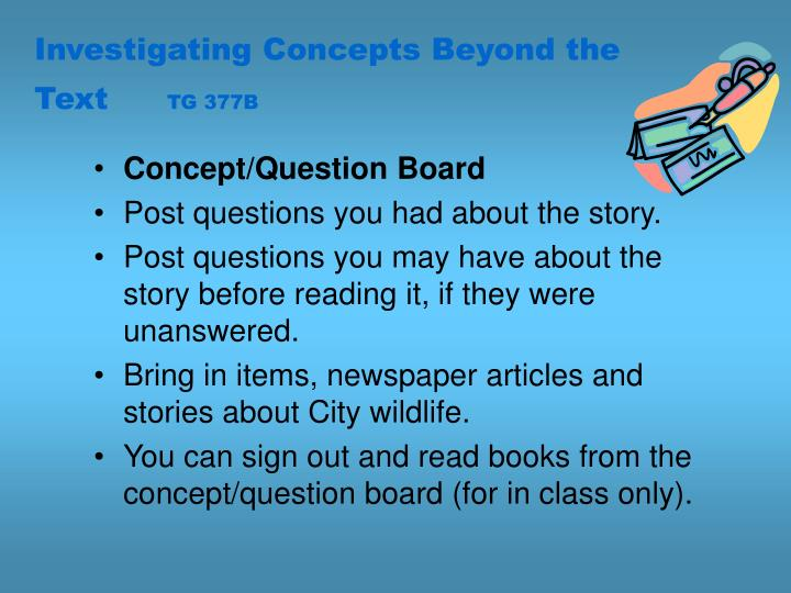 Investigating Concepts Beyond the Text