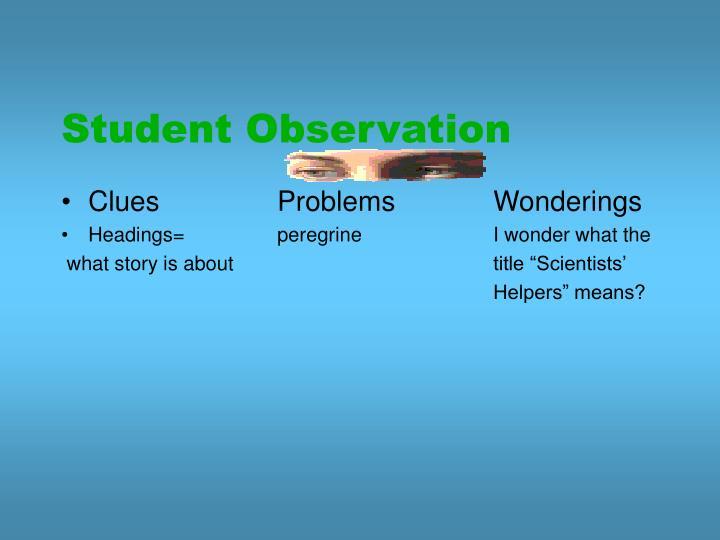 Student Observation