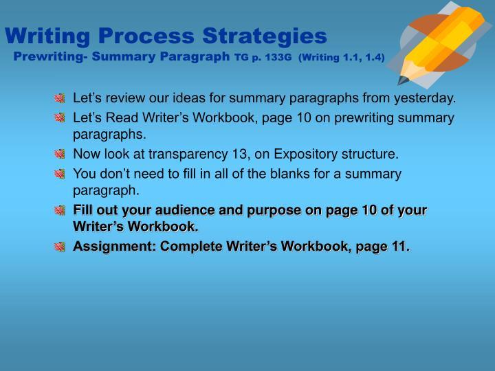 Writing Process Strategies