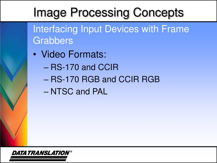 Interfacing Input Devices with Frame Grabbers