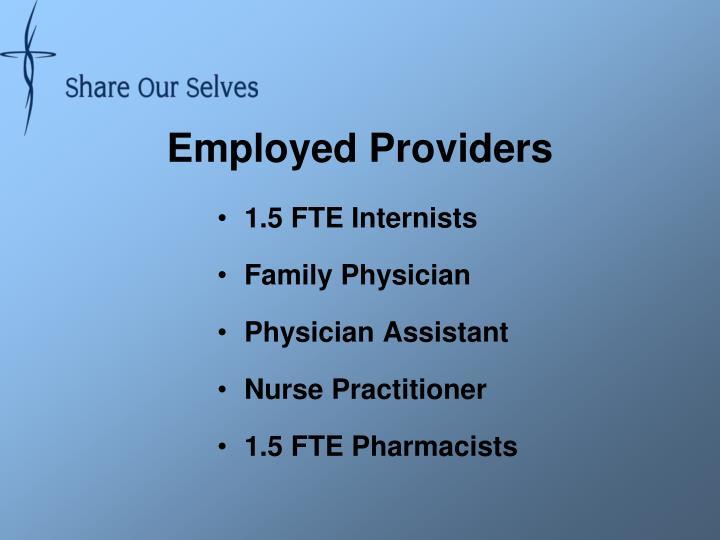 Employed Providers