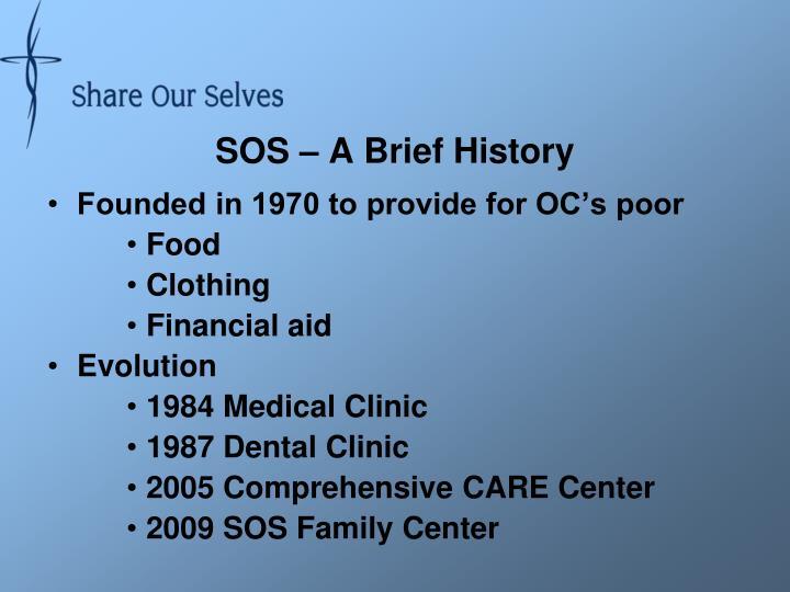 SOS – A Brief History