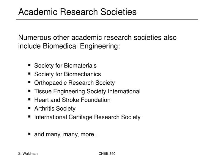 Academic Research Societies