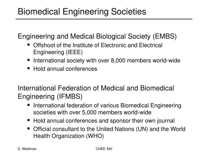 Biomedical Engineering Societies