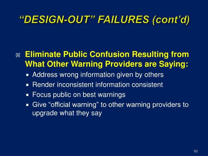 """""""DESIGN-OUT"""" FAILURES (cont'd)"""