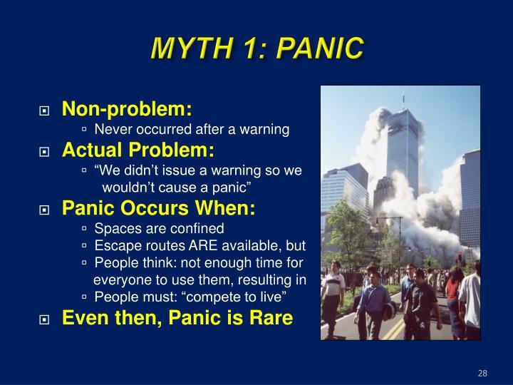 MYTH 1: PANIC