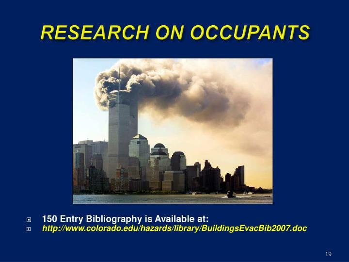 RESEARCH ON OCCUPANTS