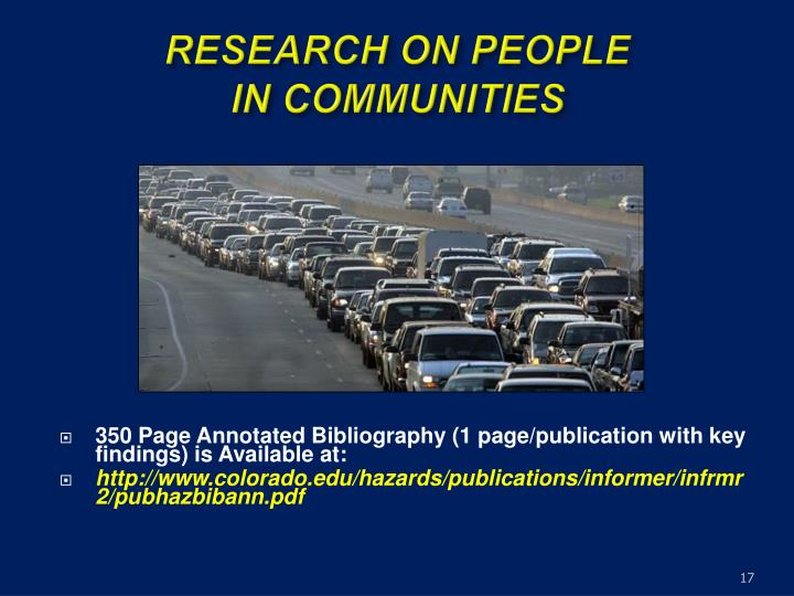 RESEARCH ON PEOPLE