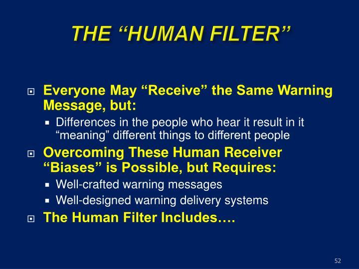 "THE ""HUMAN FILTER"""
