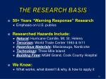 the research basis