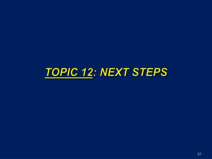 TOPIC 12