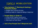 topic 6 mobilization