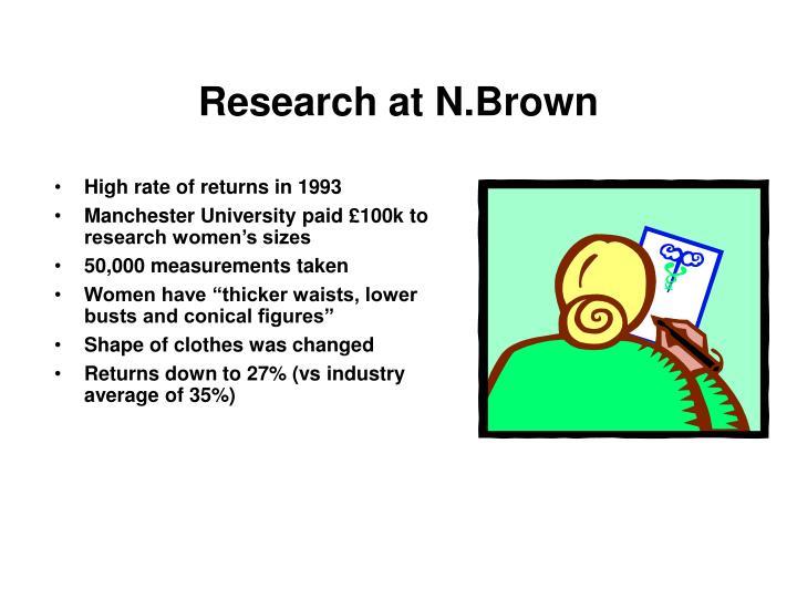Research at N.Brown