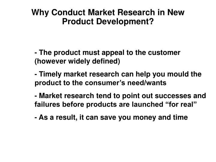 Why Conduct Market Research in New Product Development?