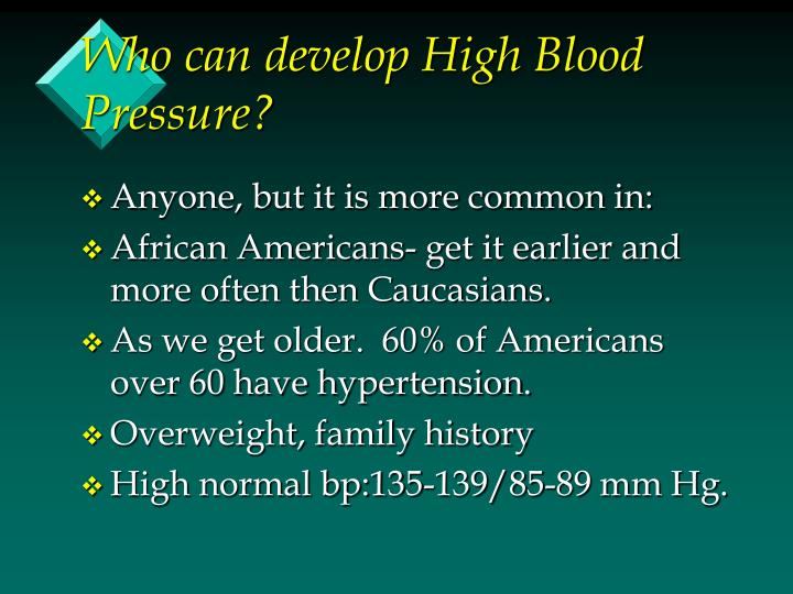 Who can develop High Blood Pressure?