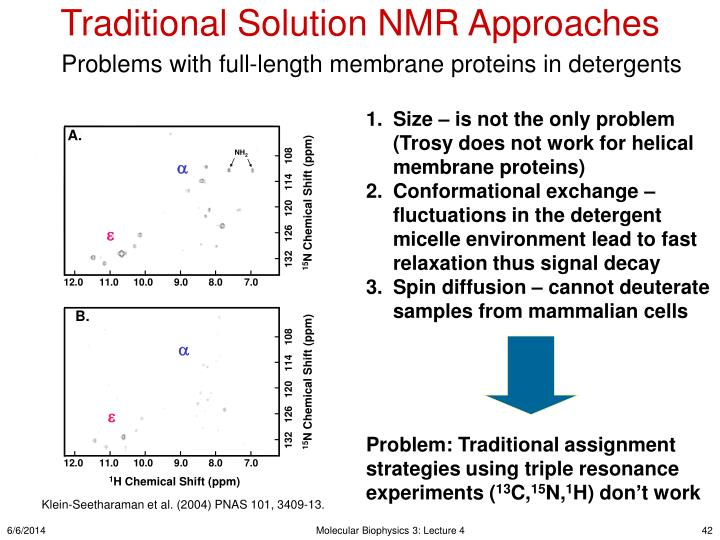 Traditional Solution NMR Approaches
