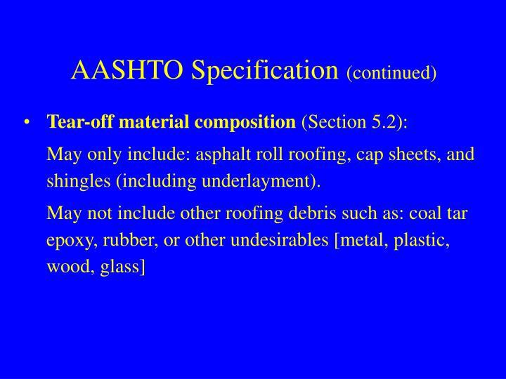 AASHTO Specification