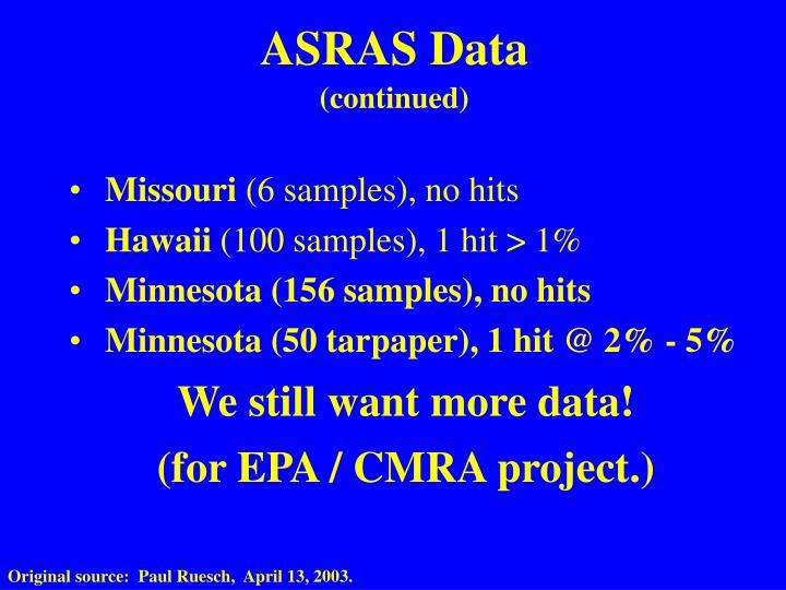ASRAS Data
