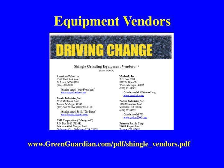 Equipment Vendors