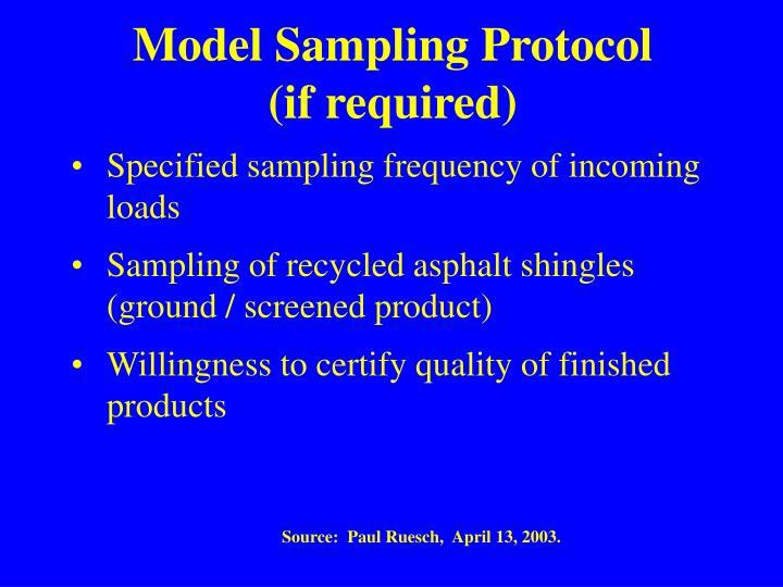 Model Sampling Protocol