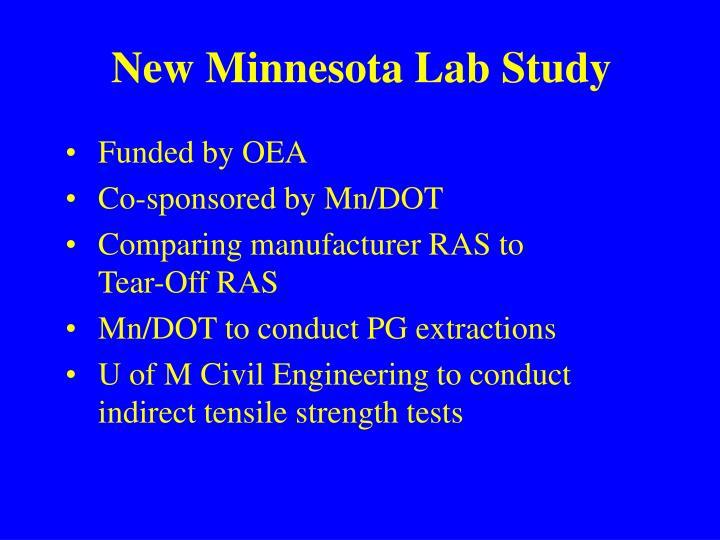 New Minnesota Lab Study