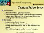 capstone project scope