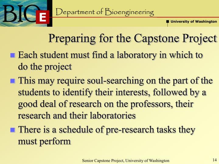 Preparing for the Capstone Project