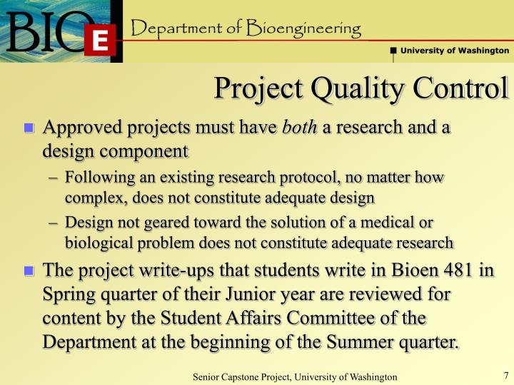 Project Quality Control