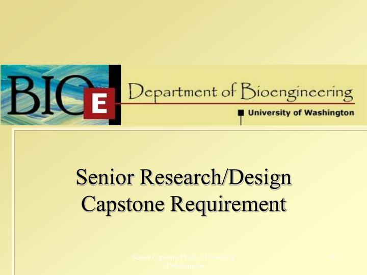 senior research design capstone requirement